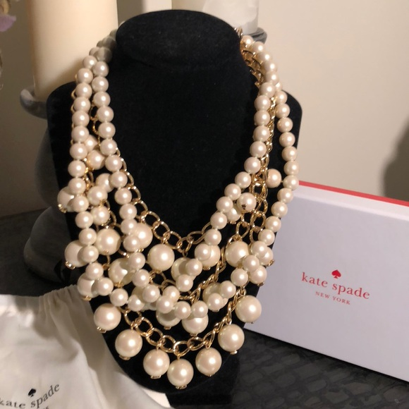 79d8fdf62d42f Kate Spade Purely Pearly Statement Pearl Necklace NWT